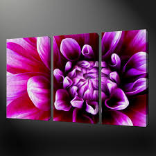 canvas print pictures high quality handmade free next day delivery purple dahlia painting style canvas wall art pictures prints size variety