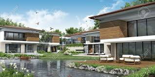 Modern Home Design Thailand by 3d Building Modern House Stock Photo Picture And Royalty Free