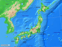 Asia Physical Map Japan Physical Map A Learning Family