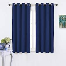 Blackout Kitchen Curtains Nicetown Blackout Curtains And Drapes For Kitchen
