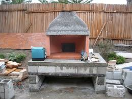 homemade outdoor fireplace with pizza oven u2014 farmhouses