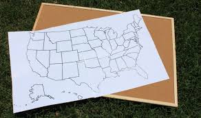 I Need A Map Of The United States by Diy United States Cork Board Map