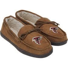 Moccasins Atlanta Falcons Moccasin Slippers Tan Fanatics Com