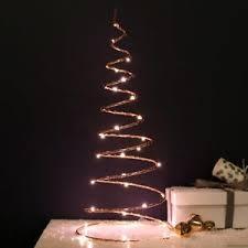 spiral christmas tree 30cm indoor battery operated copper table table spiral christmas