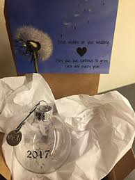wedding wishes gift 2017 wedding wishes glass globe keepsake ornament