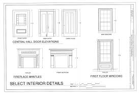 Fireplace Floor Plan File Central Hall Door Elevations Fireplace Mantels And First