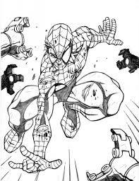 spiderman coloring pages online learn language me