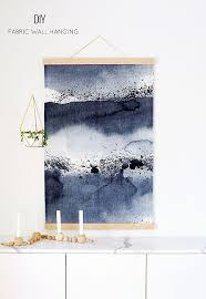 hanging canvas art without frame diy wall hanging the fabric is prebought the tutorial is for how