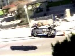 hollywood stunt driver car crash different angle radioshack