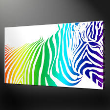 wall art ideas design cool contemporary zebra canvas wall art
