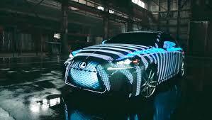 lexus lit carro da lexus tem 42 mil leds e muda de cor de acordo com o ritmo