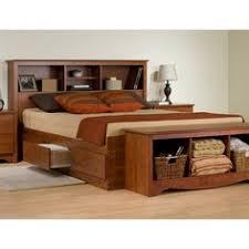 prepac furniture platform storage king bookcase headboard for
