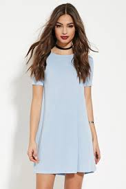 forever 21 pleated t shirt dress in blue lyst