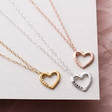 long love heart necklace images Personalised love heart necklace jpg