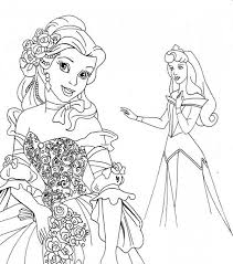 belle coloring pages coloringeast
