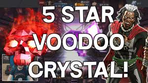 marvel thanksgiving double 5 star voodoo crystal opening marvel contest of