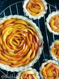 peach honey rose tart