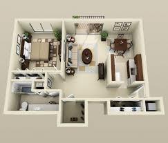 appartement 1 chambre 50 plans en 3d d appartement avec 1 chambres tiny houses smallest