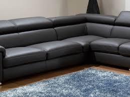 Modern Leather Sofa Black Furniture 39 Corner Sofa Bed Black Grey Fabric Scafati