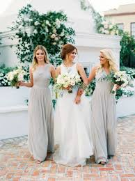 light gray bridesmaid dresses light grey dresses with off white cream colored flowers beautiful
