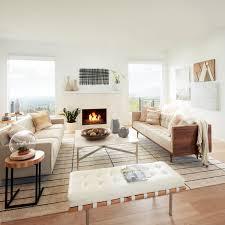 Overstock House Tour Cassandra U0027s Layered Neutral Living Room
