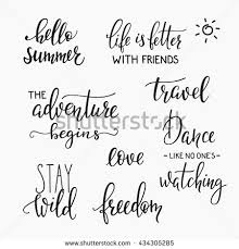 wedding quotes calligraphy lettering photography family album overlay set stock vector