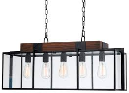 Iron And Wood Chandelier Bronze Iron Wood Glass Pendant Light 40 Fx 3582 5