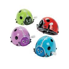 amazon com fun express flipping wind up lady bugs 1 dozen toys