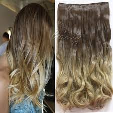 Clip In Blonde Hair Extensions by Dip Dye Clip In Long Curly Straight Synthetic 5 16 Clips Ombre