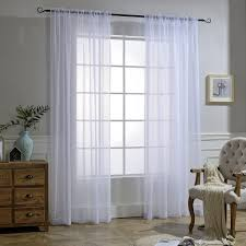 Crushed Sheer Voile Curtains by Sheer Curtains Platinum Voile Sheer Curtain Panel Clearance Asian