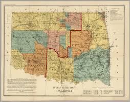 Map Oklahoma Map Of Indian Territory And Oklahoma David Rumsey Historical Map