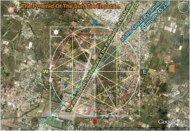 Teotihuacan Map American Parthenon And The System Of Pyramids U003c The Alignments