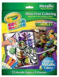 crayola teenage mutant ninja turtles metallic 12 mess free