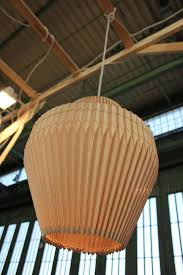 Wood Pendant Light Fixture Elisa Strozyk U0027s Folded Wood Accordion Lamp Is A Study Of Material