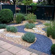 wonderful landscaping front garden ideas with gravel also