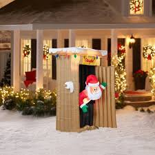 gemmy airblown inflatables 6 animated santa coming