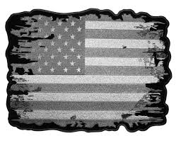 Embroidered American Flag Patriotic Subdued Distressed American Flag Embroidered Patch