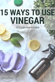 15 kitchen cleaning uses for vinegar first home love life