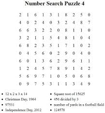 free puzzles to print number search puzzle 4