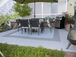 Backyard Flooring Options - painted concrete patio ideas u2013 outdoor ideas