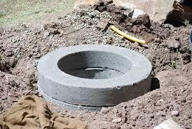 Diy Concrete Patio Build Concrete Fire Pit Fire Pit Design Ideas