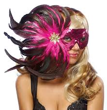 feather masks goddessey pink feather costume mask toys