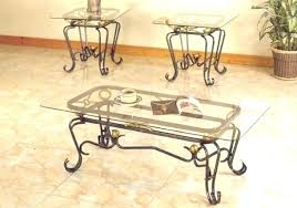coffee table with iron base wrought iron coffee table base daprafazerco inside iron and glass