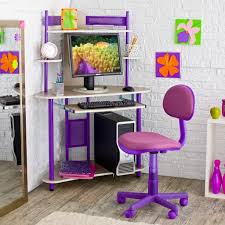Colored Desk Chairs Design Ideas White Wall Brick Color Ideas And Creative Corner Computer Desk