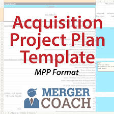mergers and acquisitions project plan templates mergercoach
