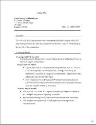 Experienced Manual Testing Resume 100 Software Tester Resume Format Comparing Photosynthesis