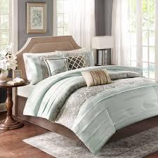 Modern Bedding Sets Queen Home Essence Richardson 7 Piece Comforter Set Walmart Com