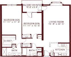 large two bedroom apartments for seniors at riddle village
