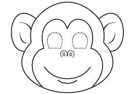 printable monkey coloring pages best 25 monkey template ideas on pinterest monkey pattern felt