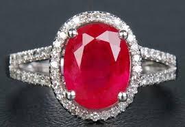 ruby diamond ring ruby diamond ring ruby jewelry prakash gems delhi id 5771052297